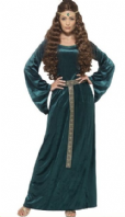 Medieval Maiden Green Costume  (45497)